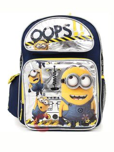 e30a6c92bed1 Despicable Me 2 Minions Large School Backpack 16 Book Bag - Oops!