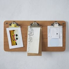 Universal Expert Multi-Clip Notice Board by West Elm and The Universal Expert (by Sebastian Conran)