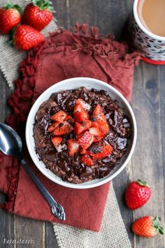Chocolate Strawberry Oatmeal (GF + Vegan)