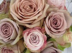 Amnesia and Faith Roses in a Wedding Bouquet by The Flowersmiths, via Flickr