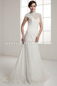 High neck wedding dress!!!