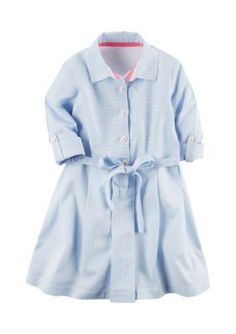 Carters Stripe Abbot Striped Dress Girls 4-6x