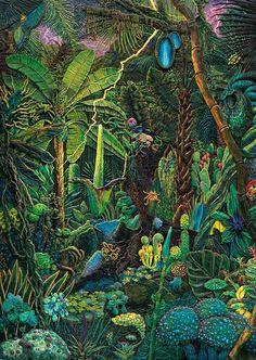 De kunstenaar maakt al jaren gedetailleerde, driedimensionale schilderijen van plasticine.