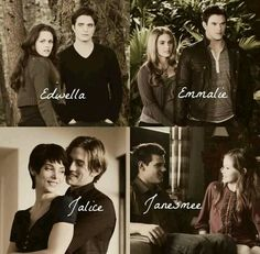 Twilight couples- jacob and renesme together was the perfect ending to this series!!