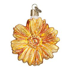 Old World Christmas Andy's Daisy Glass Blown Ornament >>> You can find more details by visiting the image link.