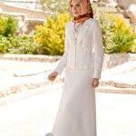 white hijab abaya dress