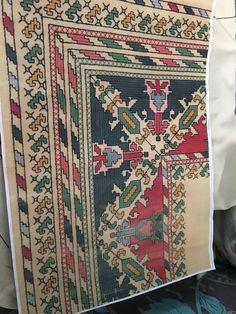 Cross Stitches, Bohemian Rug, Fabrics, Quilts, Blanket, Rugs, Decor, Cross Stitch Pillow, Pattern