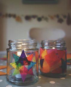 modge podge tissue paper lanterns