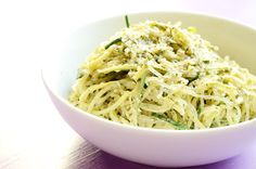 Hemp Pesto Pasta: raw, vegan, gluten free, delish.