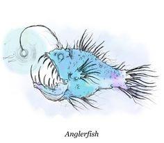 Deep Sea Anglerfish Female The deep, the anglerfish