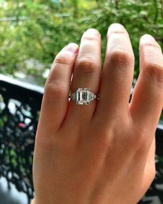 """Irene Byrne & Co on Instagram: """"I just can't help but show off this extremely rare HENNELL diamond engagement ring made in the Art Deco period under the designer Charles…"""""""