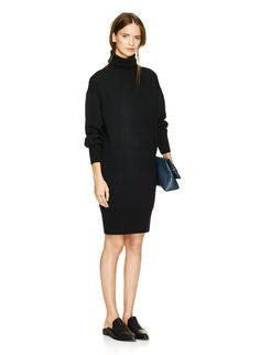 WILFRED PENSÉE DRESS - Slouchy and sophisticated, knit with extra fine merino wool from Italy