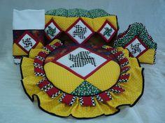 Set de Baño de MOLINO DE VIENTO. Diseño Original de Amarilis Cisneros de Herrera. +58/414-3419580 Valencia - Venezuela.