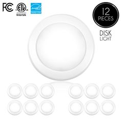 """Parmida (12 Pack) 5/6"""" Dimmable LED Disk Light Flush Mount Ceiling Fixture, 15W (120W Replacement), 5000K (Day Light), ENERGY STAR, Installs into Junction Box Or Recessed Can, 1050lm #Parmida #Pack) #/"""" #Dimmable #Disk #Light #Flush #Mount #Ceiling #Fixture, #Replacement), #(Day #Light), #ENERGY #STAR, #Installs #into #Junction #Recessed #Can,"""