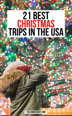 Christmas Travel, Holiday Travel, Christmas Fun, Christmas Destinations, Vacation Destinations, Vacations In The Us, Honeymoon Tips, Go Usa, United States Travel