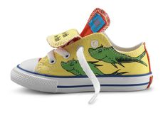 """A Pair of Converse for Your Seussy Side -- Oh, the places you'll go...in Converse's new [2010] Dr. Seuss collection. There are 12 styles available, in sizes for babies to baby boomers."" Click through to see photos of some of the other styles."
