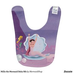 Milla the Mermaid Baby Bib
