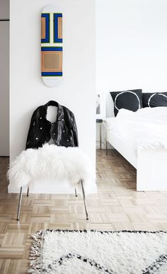 Apartment 34 | black and white bedroom