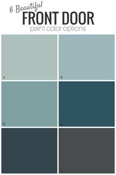 Front Door Paint Color or Leave it? Add curb appeal to your home with one of these gorgeous blue or gray front door paint color options!Add curb appeal to your home with one of these gorgeous blue or gray front door paint color options! Grey Front Doors, Beautiful Front Doors, Painted Front Doors, Blue Doors, Painted Exterior Doors, Colored Front Doors, Teal Door, Victorian Front Doors, Turquoise Door