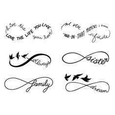 Tattify Infinity Symbol Temporary Tattoos - Sweet Nothings (Set of 12 ...