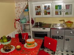 American Girl doll house with same awesome ideas for furnishings.