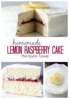 Delicious Homemade Lemon Cake with Raspberry Filling!