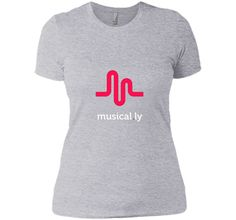 musical.ly wave classic T-Shirt (Fitted Cut)