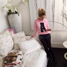 Pink Sweater A Nikkie Plessen Nieuwe zomercollectie 2015