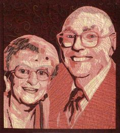 Customized Art Quilt Portrait Wall Hanging  Two by cindyrquilts, $350.00