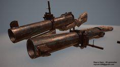 ArtStation - Bloop Tube m79 grenade launcher, Rayco Haex