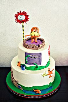 I'm teaching the Lorax on friday.and then eat it. I'm teaching the Lorax on friday.and then eat it. Fancy Cakes, Cute Cakes, Beautiful Cakes, Amazing Cakes, Dr Suess Cakes, Cake Wrecks, Gateaux Cake, The Lorax, Occasion Cakes