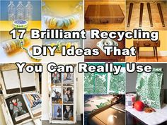 Diy Projects: 17 Brilliant Recycling DIY Ideas That You Can Really Use
