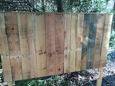 Pallet wood King size headboard. By Cowboy Jeff Always accepting commissions (404)430-1897