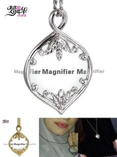 [Visit to Buy] Dreamcarnival1989 Women Optical Chain Pendant Necklace Magnifying Glass Lens For Reading Fine Prints Rhodium or Gold-color kolye #Advertisement