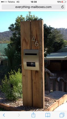 Timber mail box