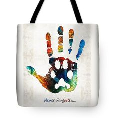 Rainbow Bridge Art - Never Forgotten - By Sharon Cummings Tote Bag by Sharon Cummings