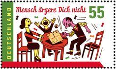 Mensch ärgere Dich nicht – Briefmarke – Wagenbreth