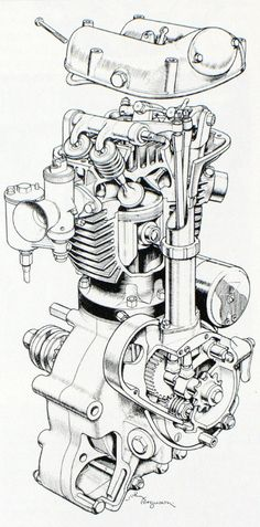 Blueprints and Sectioned art. – The Jockey Journal Board Blueprints and Sectioned art. – The Jockey Journal Board Motorcycle Engine, Motorcycle Art, Bike Art, Car Engine, Technical Illustration, Technical Drawing, Vintage Motorcycles, Cars And Motorcycles, Cars Motorcycles