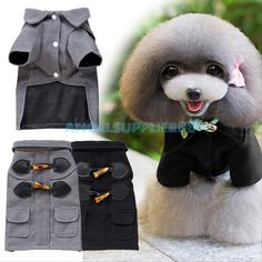 Pet Cat Dog Puppy Warm Knit Coat Clothes Sweater Vest Jacket ...