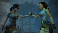 Lara Croft and Lara Croft | 16 Video Game Characters Posing With The Old Versions Of Themselves