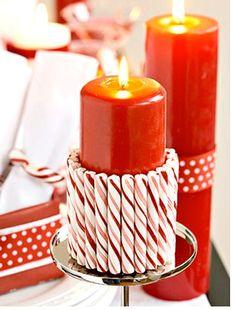 Renueva velas para #decorar en #navidad #Christmas #Decor