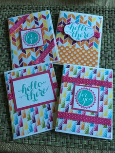 Stampin' Up sweet taffy dsp, Hello there stamp set
