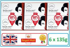 Genuine Kojie San Kojic Acid Skin Lightening Soap - 6 x 135g