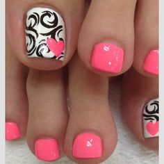 Cute design pedi!