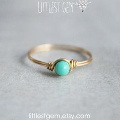Hey, I found this really awesome Etsy listing at https://www.etsy.com/listing/162577503/tiny-turquoise-ring-wire-wrapped-ring