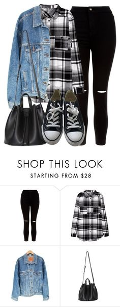 """Style #11465"" by vany-alvarado ❤ liked on Polyvore featuring New Look, Levi's and Converse"