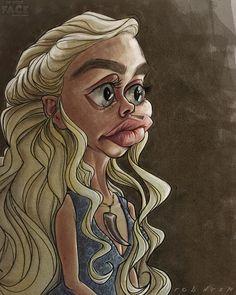 Emilia Clarke, Caricature, Daenerys Targaryen, Instagram Posts, Art, Art Background, Kunst, Performing Arts, Caricatures