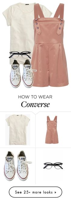 """8:58"" by grrxcia on Polyvore featuring J.Crew, Bottega Veneta, Converse and Retrò"
