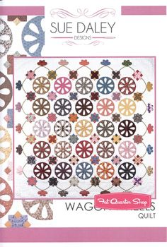 Wagon Wheels Quilt Pattern and English Paper Piecing Set<BR>Sue Daley Designs