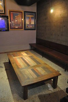 Monsoon Old Door dining table cut to size. The range features recycled planks derived from old Indian doors. Funky as!